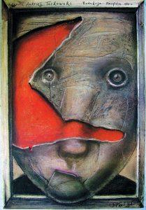 Stasys Eidrigevicius, Zwierciadlo, 1989 – Frank Fox Polish Poster Collection at Drexel University