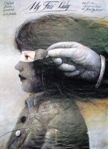 Wilktor Sadowski, My Fair Lady, 1986 – Frank Fox Polish Poster Collection at Drexel University