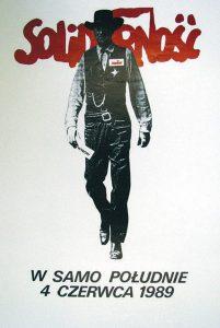 Tomasz Sarneki, Solidamosc, 1989 – Frank Fox Polish Poster Collection at Drexel University