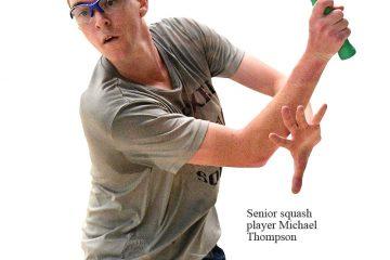 Senior squash player Michael Thompson