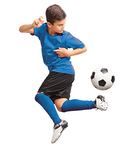 Photo of child juggling soccer ball