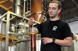 Travis Scott testing whiskey.