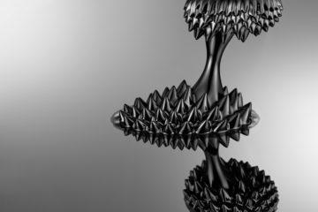 ferrofluid on silicon wafer
