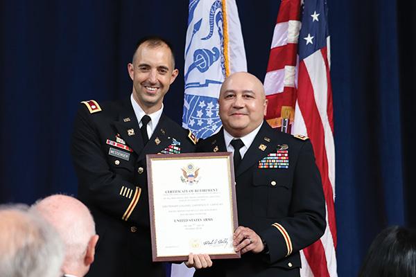 camacho recieving award
