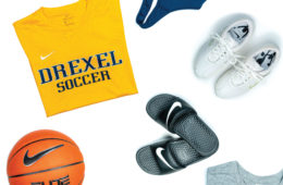 Drexel Athletic gear with Nike logo