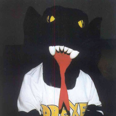 drexel mascot with long tongue