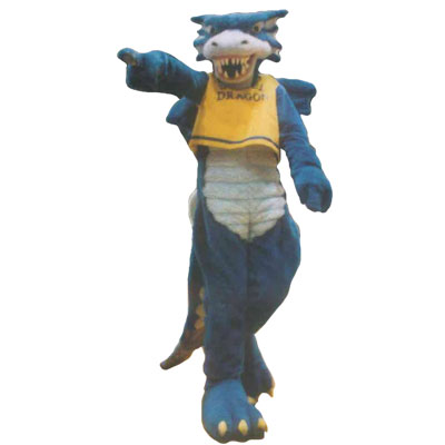 drexel mascot wearing a jersey