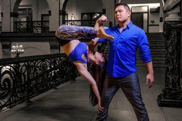 Rob li lifting a woman