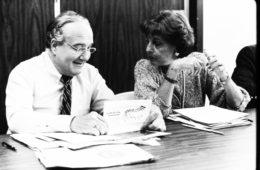 Myra Levick and Paul Fink, MD, director of Hahnemann's program