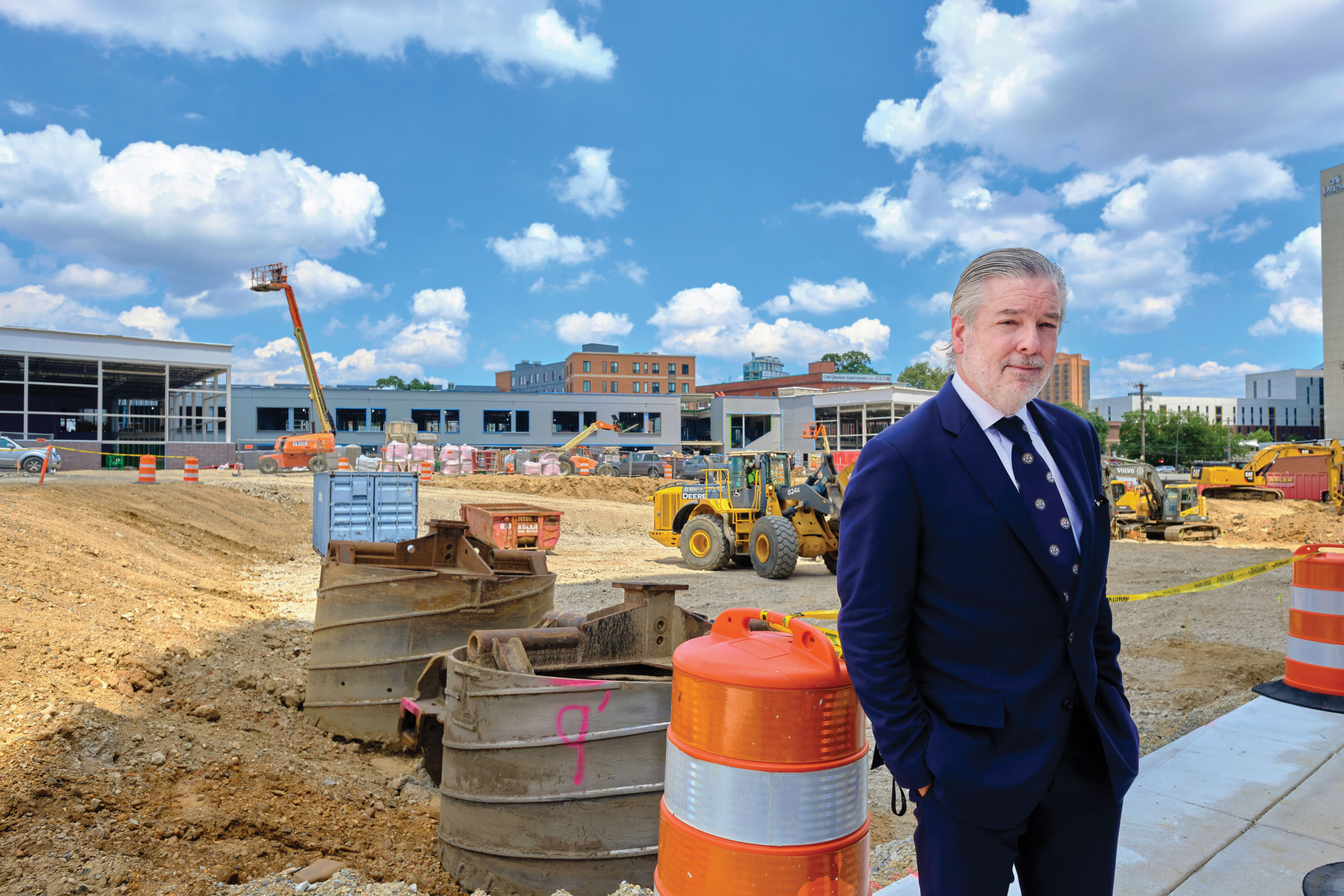 President John Fry, on the uCity Square site