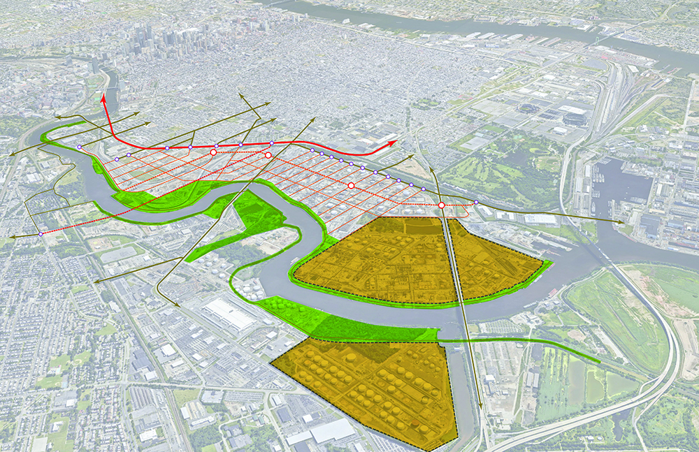 A proposal for the Philadelphia Energy Solutions refinery site.
