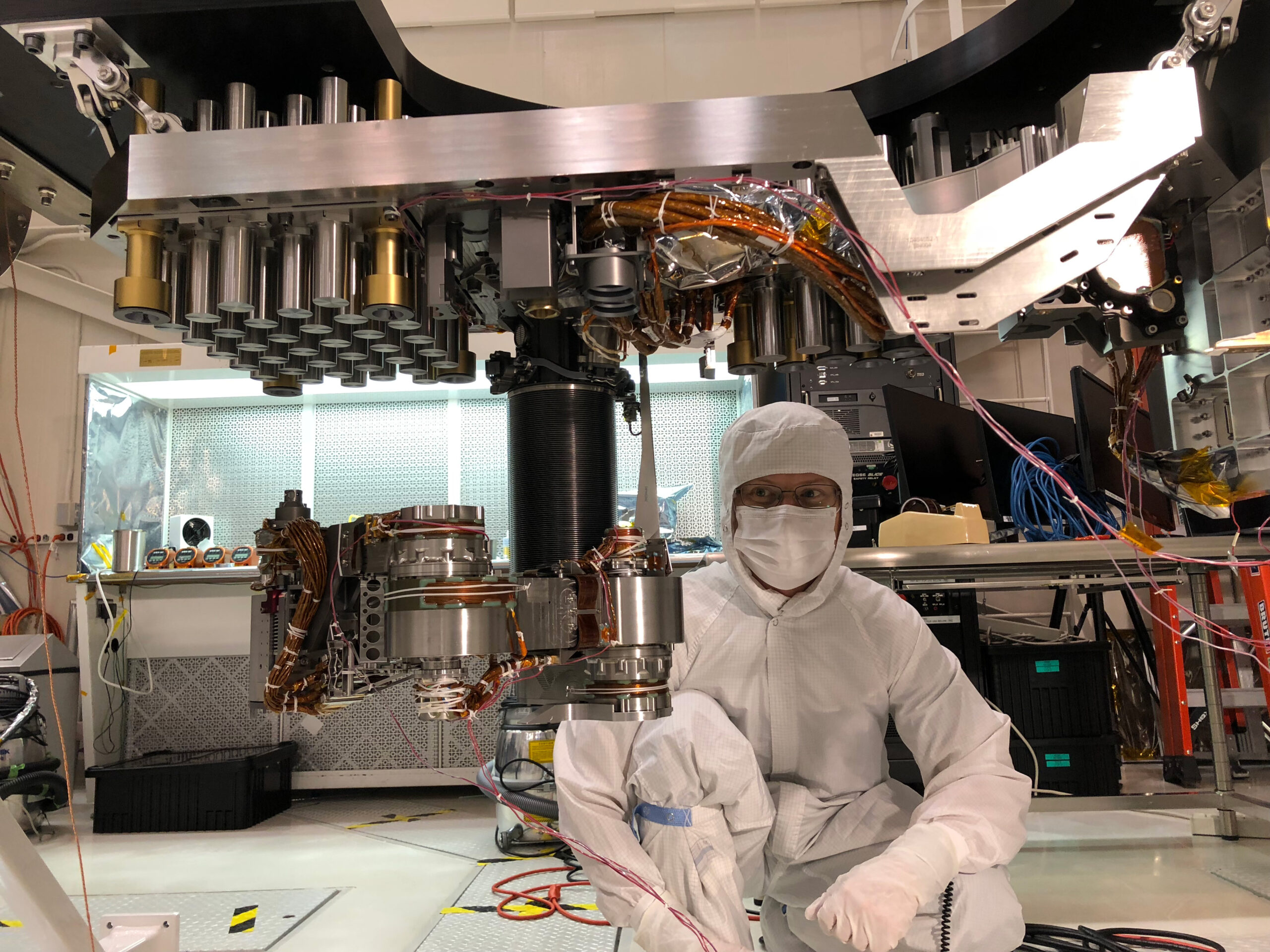 silverman working in the lab